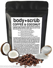 ORGANIC COFFEE & COCONUT BODY SCRUB REDUCE CELLULITE ACNE STRETCH MARKS + MORE ❉