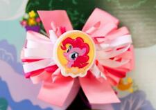 My Little Pony FIM Pinkie Pie Inspired Large Bow Girl Toddler Handmade Hair Clip