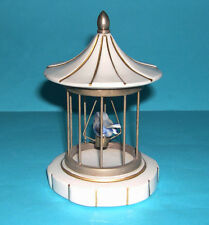 Capodimonte Porcelain Ornament Italy - Attractive Bird In A Cage - 13cm tall.