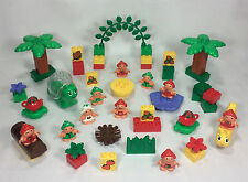 Lego ~ DUPLO ~ Little Forest Friends Huge Lot ~ strawberries, flowers, figures +