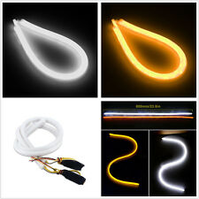 Pair 12V 60cm Flexible Switchback LED Flowing Dual Color DRL Turn Signal Lights