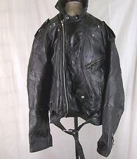 Men's Leather Motorcycle Jacket Diamond Plate Buffalo Leather 3X Zip in Liner
