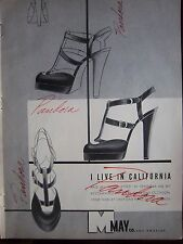 1948 Vintage May Co Los Angeles I Live California PANDORA Womens Shoes Ad