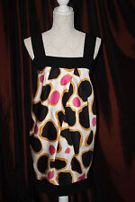 Diane von Furstenberg black pink yellow tulip dress 10 Small Tulip Strappy Payne