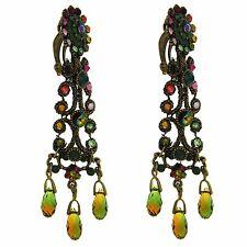 Orecchini Chandelier MICHAL NEGRIN Amman Earrings Cristalli Swarovski NUOVI