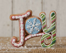 Christmas Candy Gingerbread Cookie JOY Decoration NEW 7RS555