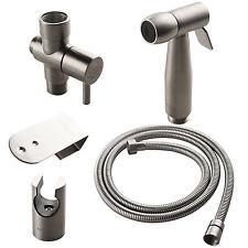 """304 Stainless Steel Hand Held Bidet Toilet Shattaf Kit Sprayer 7/8"""" adapter set"""