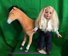 "Paradise Horses 19"" Cowgirl Doll & Poseable Horse"