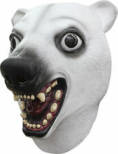 Deluxe Polar Bear Mask White Bear Full Over the Head Latex Mask  Adult Size