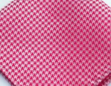 "US Seller New 10"" 100% Silk Pocket Square Men's Handkerchief  Red Houndstooth"