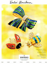 Publicité 2000 BOUCHERON  joaillier bijoux collier bague bracelet collection ...
