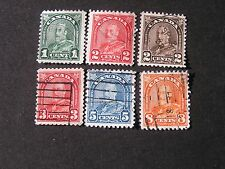 **CANADA, SCOTT # 163+165-167(3)+170+172,TOTAL 6 1930-31 KGV ISSUE USED