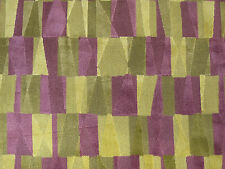 "SANDERSON CURTAIN/UPHOLSTERY FABRIC  ""Laszlo"" 3.6 METRES GRAPE/YELLOW CUT VELVET"
