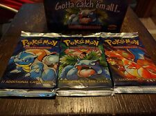 Original Pokemon Base Set Booster Packs Sealed New English 1999