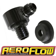 AEROFLOW BLACK BILLET BRAKE BOOSTER ONE WAY -6 6AN NON RETURN VALVE AF350-00BLK