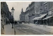High Street Doncaster RP old postcard used 1913 by Regina
