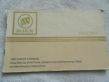 1982 Buick Electra Owners Manual 82