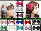 NEW LARGE/BIG CRYSTAL BOW HAIR CLIP CLAW FASCINATORS 1ST CLASS
