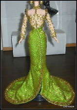 GOWN BARBIE THE GODDESS OF ASIA DOLL BOB MACKIE DESIGN BEADS & RHINESTONES GOWN