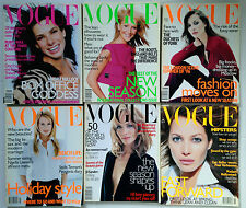1996 Collection of 6 x British English VOGUE Fashion Magazine, some extra thick