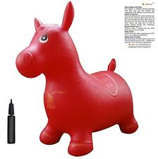 Horse Hopper with Pump, Inflatable Space Hopper, Ride-on Bouncy Horse