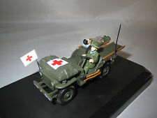 """Victoria R028  Jeep Willys Ambulance U.S.Army Normandy """"1944"""" 1:43 OVP !!"""