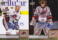 14-15 Upper Deck AHL Brandon Pirri Auto Rockford Ice Hogs 2014