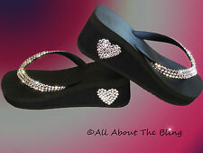 Havaianas flip flops or Cariris Wedge using Swarovski Crystals Exclusive Design