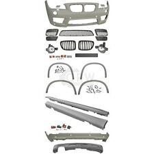 Stoßstangen + Seitenschweller + Nebel Zubehör Kit BMW X1 E84 Bj. 09-12 M Paket