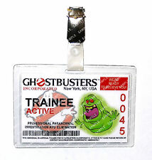 Ghostbusters Trainee ID Badge Slimer Proton Pack Cosplay Prop Costume Christmas
