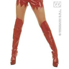 Red Boot Covers Sexy Devil Halloween Fancy Dress Accessory