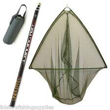 "42"" Carp Fishing Landing Net Metal Block + 2.2M 2PC Net Handle + Net Float"