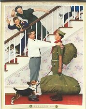"Norman Rockwell Boy Scout Calendar Top – Homecoming 11"" x 15"" c1961"