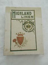 Highland Linen Eaton-Hurlbut Correspondence Papers Vintage Box