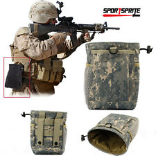 Tactical Military Hunting Paintball Molle Magazine Mag Dump Drop Small Pouch Bag