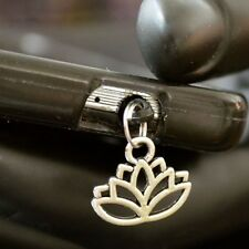 Lotus Flower cell phone Charm Anti Dust Plug Ear Jack For iPhone smartphone