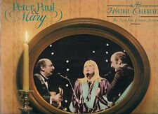 SEALED PROMO LP - PETER PAUL AND MARY - A HOLIDAY CELEBRATION  - CHRISTMAS SONGS