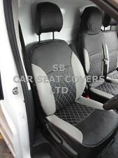 TO FIT A RENAULT TRAFIC VAN, SEAT COVERS, LPG, SILVER / BK QUILTED DIAMOND