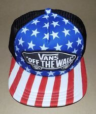 Vans Off The Wall Men's CLASSIC PATCH AMERICAN FLAG Trucker Hat Cap BEACH GIRL