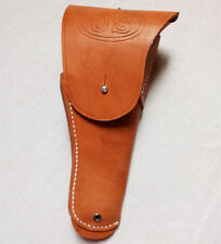 WWII WW2 Us Usmc Colt 1911 M1916 Army Brown Leather Pistol Holster Askew