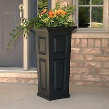 "New Mayne Nantucket 32"" Tall Outdoor Patio & Sidewalk Flower Planter - Black"