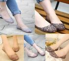 Lady Womens Summer Ventilate Crystal Shoes Jelly Hollow Sandals Flat Shoes AU3-7