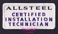 LMH PATCH Badge  ALLSTEEL  Certified INSTALLATION TECHNICIAN Uniform Purple Logo