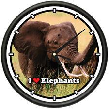 ELEPHANT Wall Clock elephants animal zoo african gift
