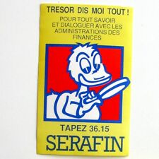 Autocollant SERAFIN - Administrations -  Sticker collector Année 80/90