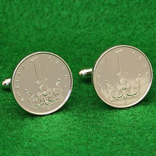 Czech Republic Coin Cufflinks, Crown of Saint Wenceslas, 1 Kr. Ceska Republika