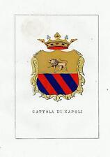 Araldica stemma araldico della famiglia Gattola di Napoli