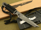 Military Survival Hunting Camping Gear Fixed Blade Neck Knife  7