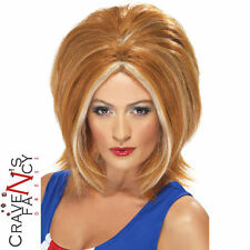 90s Ginger Spice Wig Girl Power Geri 1990s Girls Fancy Dress Costume Hen Party