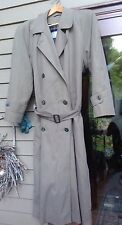 Jones New York Trench Coat Raincoat Fully Lined Zip Out Gorgeous Buttons